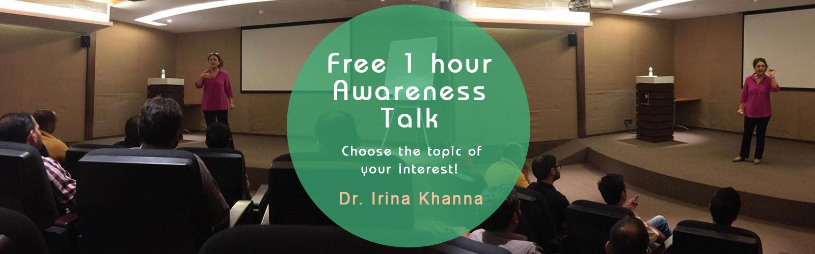 Free 1 hour Awareness Talk